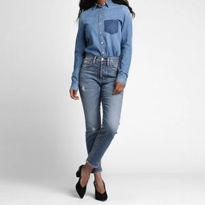 Silver Jeans Meryland Hight Waisted Straight Jeans